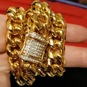 Other - IT'S BACK!!! 14KT GOLD CUBAN  w/ DIAMOND CLASP